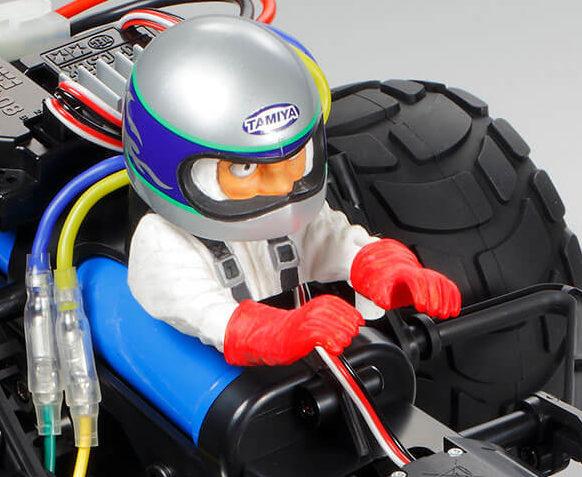 コミカルグラスホッパーのドライバー人形のアップ