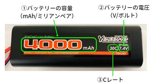 バッテリーに表記されている数字の説明