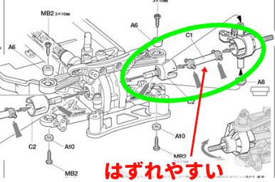 TT-02の足回りの説明その2